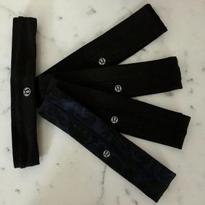 🍋 Lululemon Fly Away Tamer Headbands • Set of 5